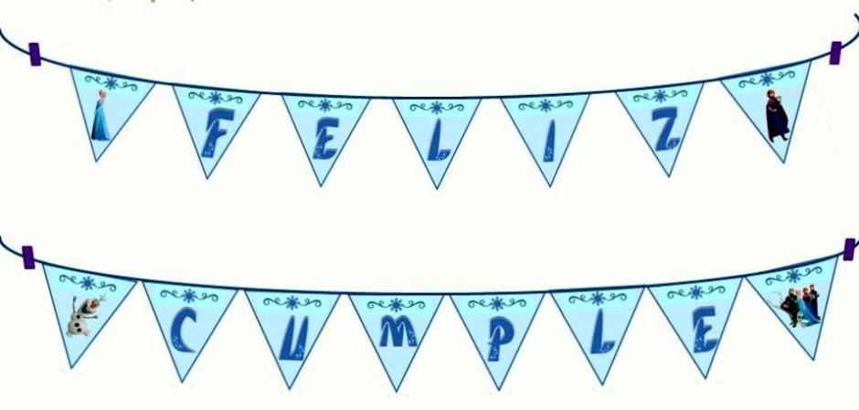 Banderines triangulo azul para blog